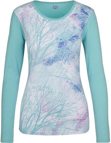 afeb05f78cb7 LOAP Dámske tričko s dlhým rukávom Belinda Aqua Splash modrá CLW17116-I07I