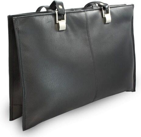 Arwel Černá kožená třízipová kabelka Aubree - Glami.sk 352eceee35