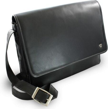 Arwel Černá kožená taška na notebook Laurien - Glami.sk 6334fd1897