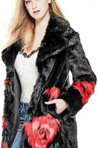 Kožich Guess Melanie Faux-Fur Coat - Glami.cz ebaa6d0c3a