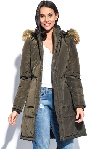 Zelia Dámsky kabát 6592 33352F-kaki - Glami.sk 136448de70e