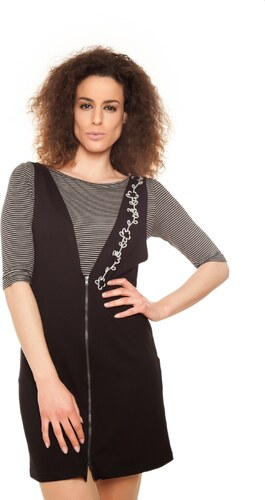 Mamatayoe GIULIO krátké šaty bez rukávů černé - Glami.cz f37584a6809