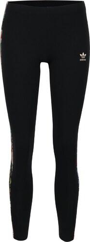 af6741e67620 Čierne dámske legíny so vzorovanými pruhmi na bokoch adidas Originals