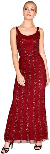 LITTLE MISTRESS Vínové spoločenské šaty zdobené flitrami - Glami.sk ad274999bd