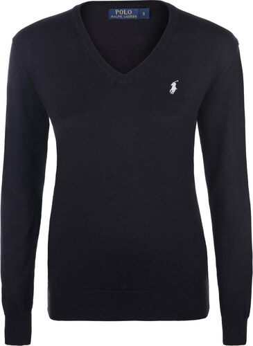 Dámský svetr ze 100% bavlny od Ralph Lauren (černý) - Glami.cz 644eea083f