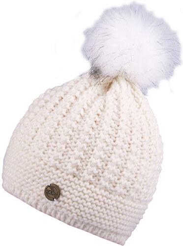 CAPU Zimní čepice s bambulí White 346-C - Glami.cz 6cfc6f2b76