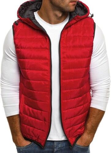Prešívaná červená vesta J.STYLE AK88 - Glami.sk 00d9a187ab5