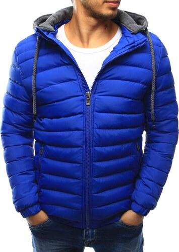 Prechodná pánska bunda s kapucňou (tx1844) - modrá