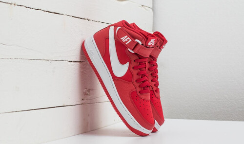 0524c5cb845 Nike Air Force 1 Mid (GS) University Red  White - Glami.cz