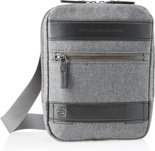 piquadro ca4140w84 sac messenger homme gris gris. Black Bedroom Furniture Sets. Home Design Ideas