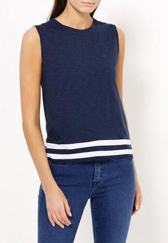 Tommy Hilfiger dámské modré tričko bez rukávů - Glami.cz addb4cc1c5