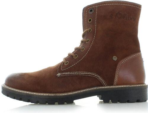 50a714046f Pánske škoricové kožené topánky s.Oliver 15235 - Glami.sk