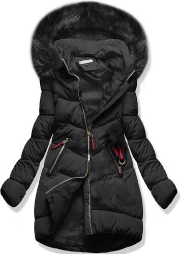 MODOVO Dámska zimná bunda s kapucňou 3756 čierna - Glami.sk 2ce6713da8a