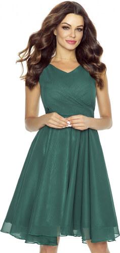 Koktejlové šaty KARTES KM227-5 lahvově zelené 38 - Glami.cz 784340ee50