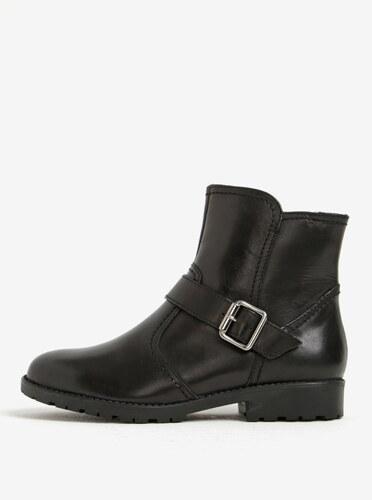 Čierne zimné kožené členkové topánky s prackou Tamaris - Glami.sk ad4d1e97a2b