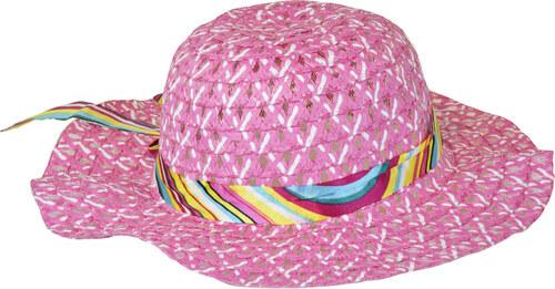 Slaměný klobouk růžový se stuhou - Glami.cz 939c7a63f4
