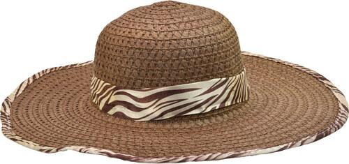 Dámský letní klobouk hnědý se stuhou a obšitím s motivy zebry - Glami.cz f0168f61e9