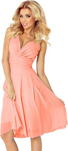 NUMOCO Dámské šifonové šaty růžová - Glami.cz 2e493c0883