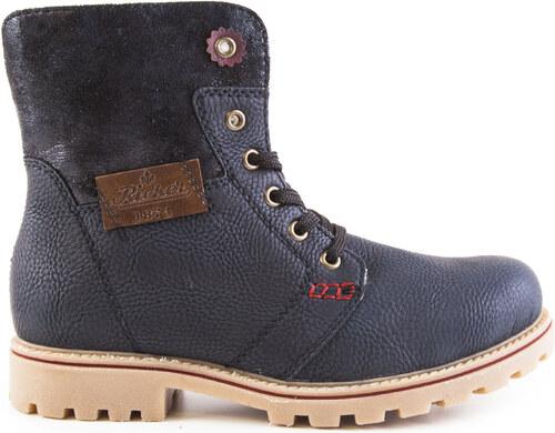 Rieker - Dámské kotníkové zateplené boty se šněrováním a zipem šíře G  Z1431-15   c3a690b9b87
