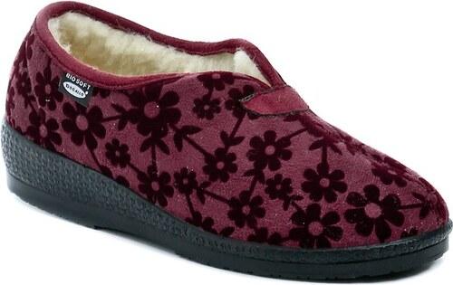 Rogallo 2655-007 bordó dámské zimní papuče - Glami.cz 0355316b58