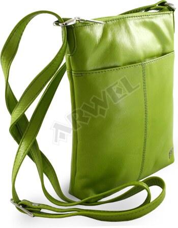 a3049d3be0 Zelená kožená zipová mini-kabelka - Glami.cz