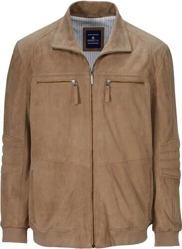 a72bc8ead4 ... kožené bundy BABISTA Velúrový kožený bluzón BABISTA piesková. Velúrový  kožený bluzón BABISTA piesková
