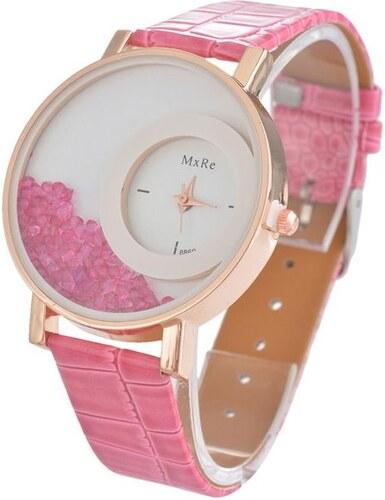 Shim Watch Mx Dámské hodinky s krystaly růžové - Glami.cz 6db283cfb1