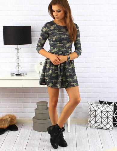 6003eca7be4 BASIC Maskáčové šaty (ey0148) - Glami.cz