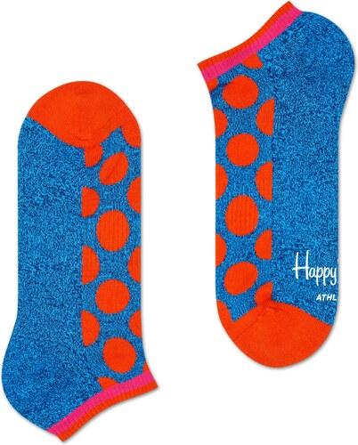 65db2c3f444 Nízké modro-červené ponožky Happy Socks s puntíky