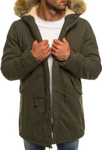 Khaki zöld téli parka kabát AK-CLUB YL002 - Glami.hu 95b018be37