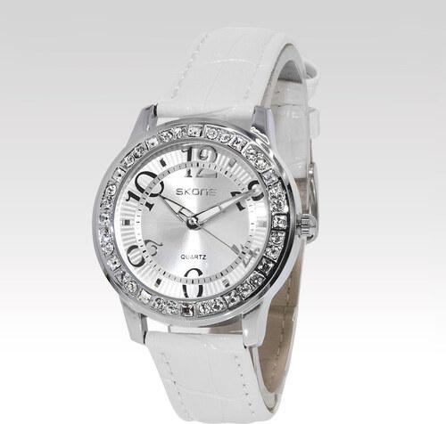 Skone dámske hodinky Radiance bílé - Glami.sk a22d160cbc1