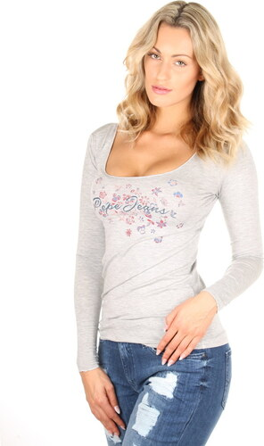 16557aefb79 Pepe Jeans dámské šedé tričko Aitana - Glami.sk