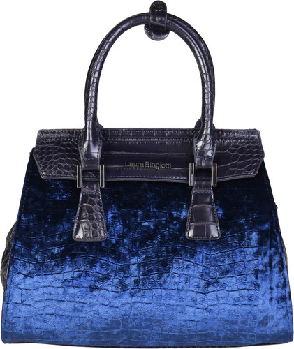 9b783b01a01 Dámská elegantní kabelka Laura Biagiotti Barva  modrá - Glami.cz