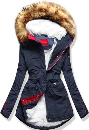 MODOVO Dámska zimná bunda s kapucňou S501 modrá - Glami.sk b2517dd6d49