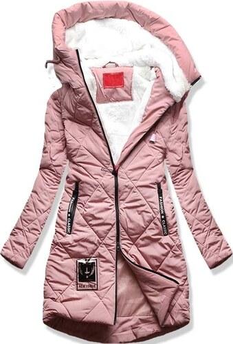 MODOVO Dámska zimná bunda s kapucňou S505 púdrová - Glami.sk 3bc5045ad24