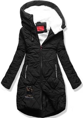 MODOVO Női téli kabát kapucnival S505 fekete - Glami.hu 2b641be513