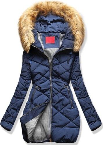 MODOVO Dámska zimná bunda s kapucňou S507 modrá - Glami.sk 5470cbc1bb0