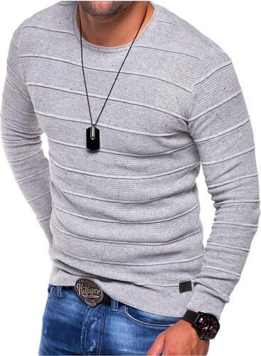 Pánský pletený lehký svetr Melange E-120 edc266c14f
