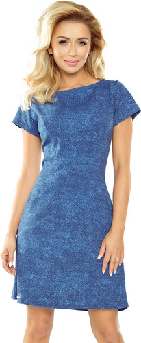 b304f0704537 numoco Světle modré džínové šaty s kapsami 155-1 - Glami.cz