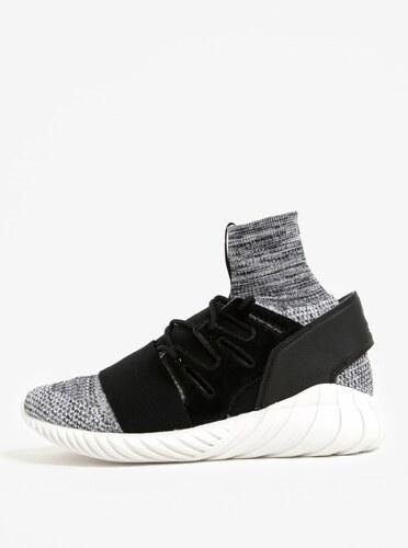 Čierno-biele melírované tenisky adidas Originals Tubular - Glami.sk 536689e9aa1