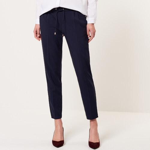 7cab67f6382b Mohito - Elegantné nohavice s gumičkou v páse - Modrá - Glami.sk