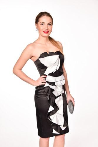 13aae582bbf7 iné Čierno-biele spoločenské šaty - Glami.sk