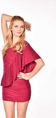 08fdd6254a7c ASOS červené šaty s volánom na jedno rameno - Glami.sk