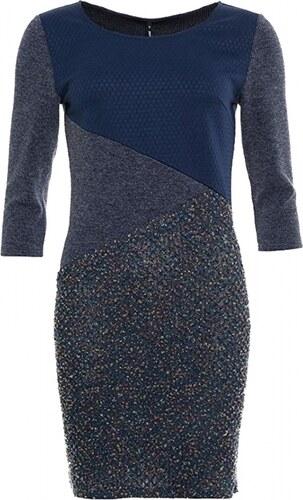 ca1f250849ba SMASH SMASH dámské šaty Jupia dlouhý rukáv modré
