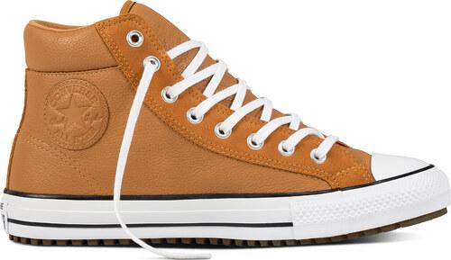 CONVERSE Unisex kožené tenisky hnedej farby Chuck Taylor All Star Boot c439328bf3