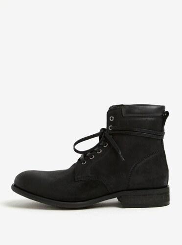 df5161328 Čierne pánske kožené členkové topánky ALDO Derrian - Glami.sk