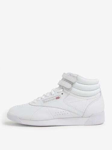 Biele dámske kožené členkové tenisky s prackou Reebok - Glami.sk 57d6798065a