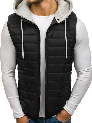 Čierna pánska vesta s kapucňou BOLF AK90 - Glami.sk 54e79fb02e7