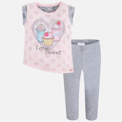 1d2708879df Set tričko+legíny puntík Milkshakes růžovo-šedá MINI Mayoral - Glami.cz