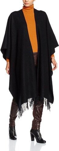 gestuz poncho cape femme noir taille unique. Black Bedroom Furniture Sets. Home Design Ideas